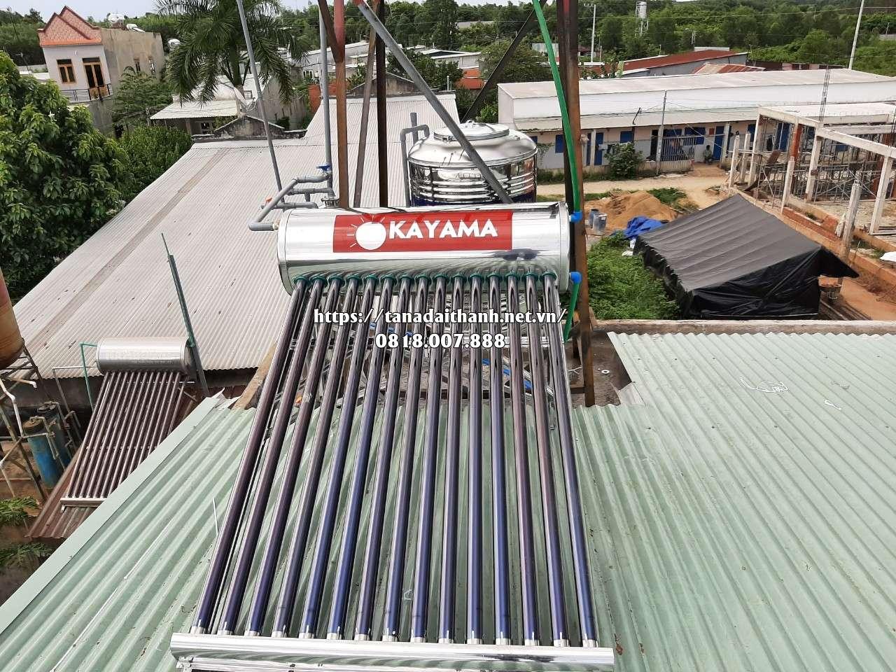 Bảng giá máy nước nóng năng lượng mặt trời Okayama